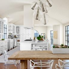 White Kitchen and Dining Area