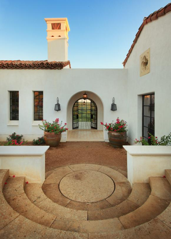 Spanish Revival Home with Grand Entry