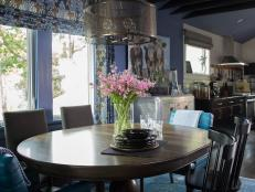HGTV Urban Oasis 2015 Blue Dining Room