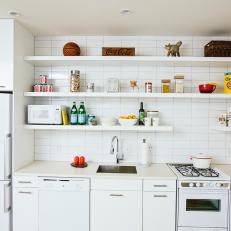 Small Kitchen Features Fresh All White Palette