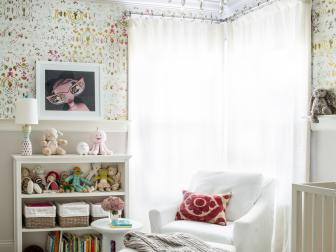 White Transitional Baby Girl Nursery