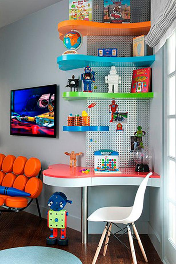 Colorful Contemporary Kids Room