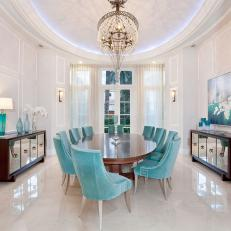 White Art Deco Dining Room Photos | HGTV