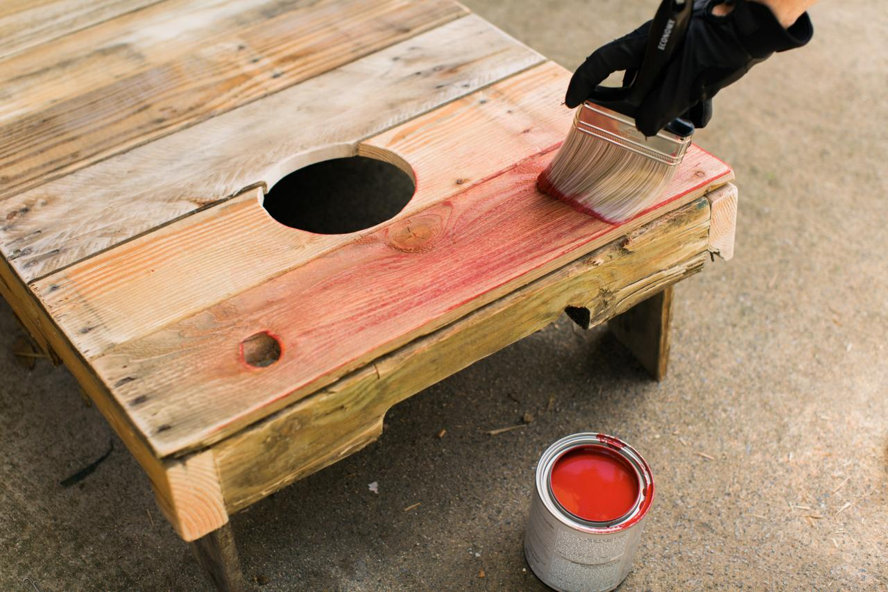 prep and paint - Cornhole Design Ideas