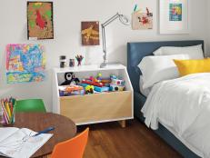 Nightstand With Storage in Kid's Bedroom