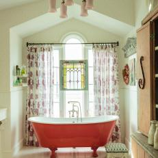 Shades of Pink in this Bathroom Make the Space Pop