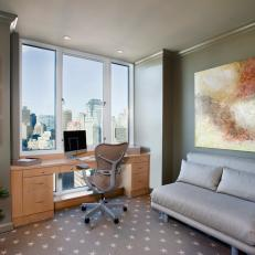 Contemporary Home Office Boasts Grand Boston View