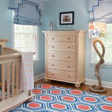 Blue Mod Nursery is Playful, Inviting