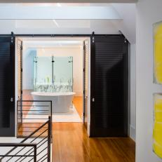 Open Concept Bathroom is Contemporary, Chic