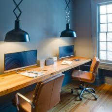 Blue Contemporary Home Office