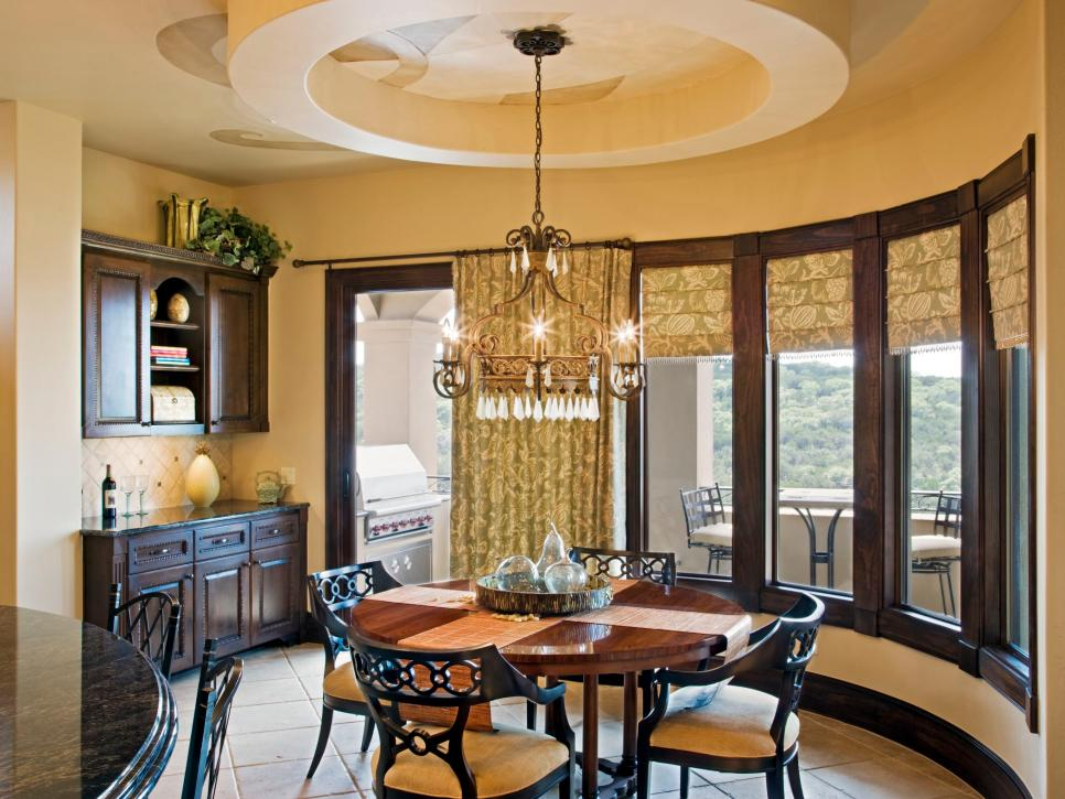 Curved Mediterranean Dining Room