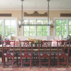 Traditional Dining Room with Eclectic Elements