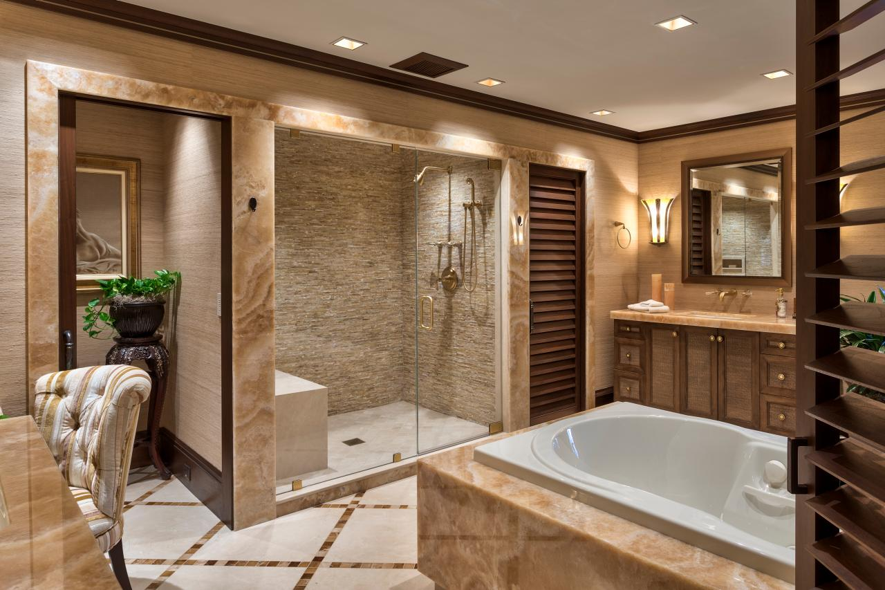 Master bathrooms hgtv Large master bath plans