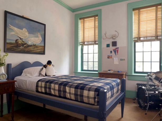 Blue Traditional Bedroom