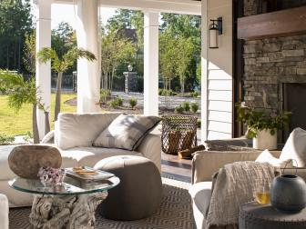 Outdoor Lounge at Lakefront Home