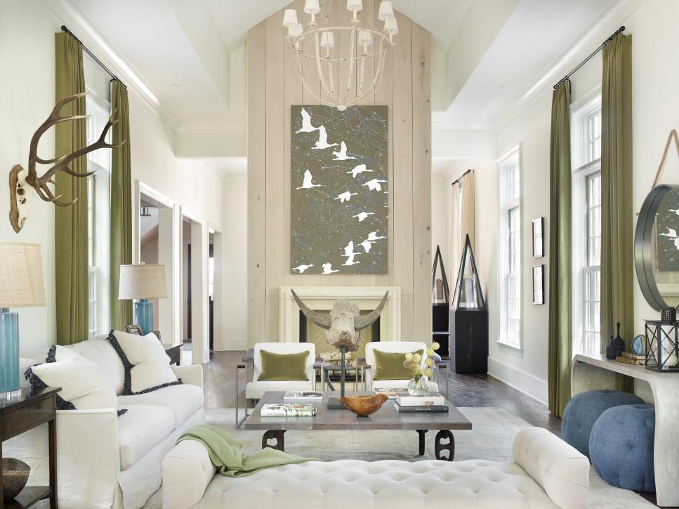 Nature Inspired Living Room Blends Contemporary Rustic Elements Melanie Millner Hgtv