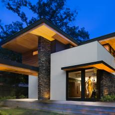 Modern Home Exterior With Midcentury Flair