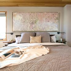 Neutral-Hued Bedroom Is Calm, Comfortable