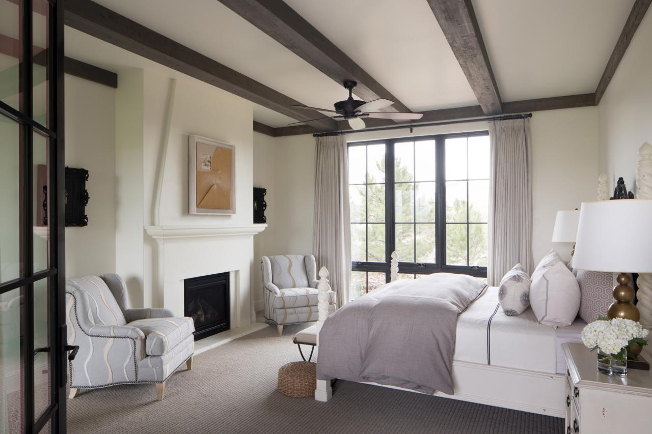 master bedrooms designs photos master bedroom features exposed beam ceiling gray accents 16159