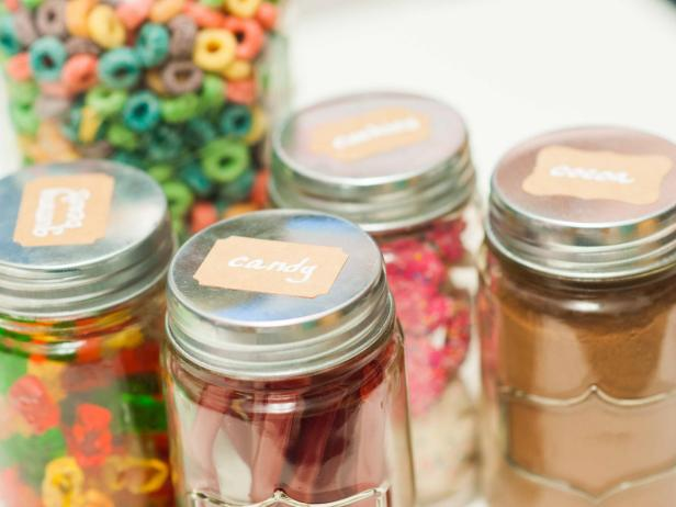 Mason Jars With Removable Labels