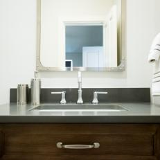 Small Vanity With Contemporary Charm