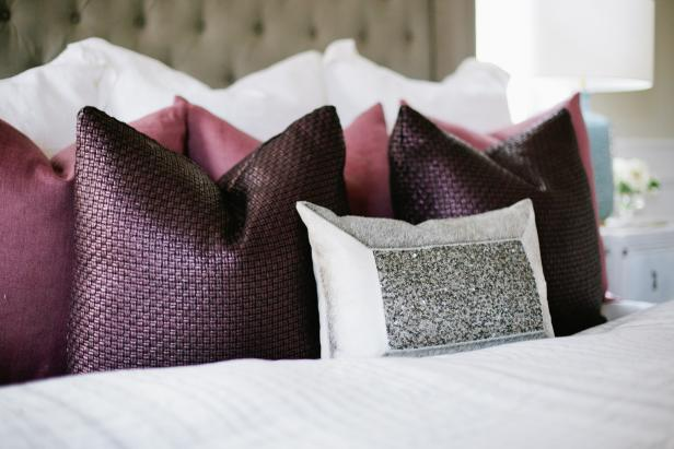 Deep Plum, Mauve & Gray Pillows