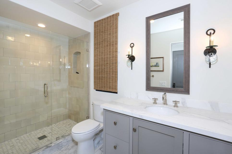 Bathroom With Candle Sconces