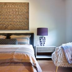 Pattern and Texture Combine in Cozy, Stylish Bedroom