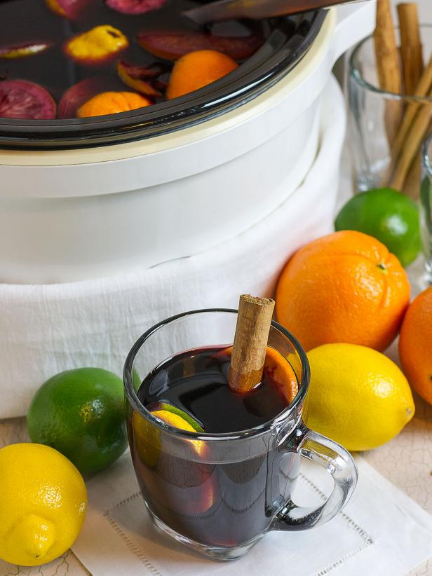 Slow Cooker Sangria Cocktail