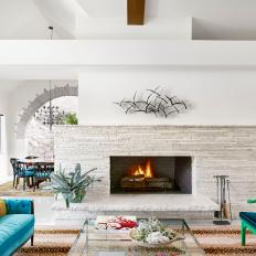 Open Floor Plan Living Room is Contemporary, Chic