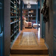 Luxurious Walk-In Closet With Storage & Display Space