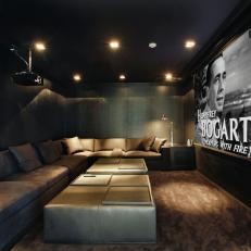 Cozy, Masculine Theater Room