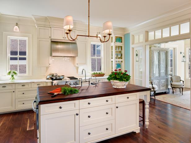 Classic White Kitchen With Coastal Flair