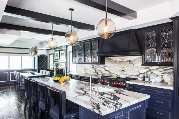 Family-Friendly Kitchen with Marble