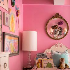 Whimsical Girl's Room in Bubblegum Pink
