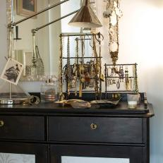 Detail of Eclectic Bedroom's Dresser