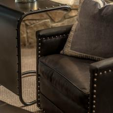 Detail of Leather Chair With Nailhead Trim