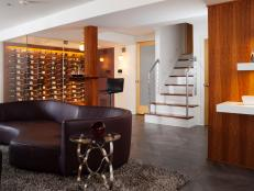 Wine-Centric Entertaining Space With Contemporary Design