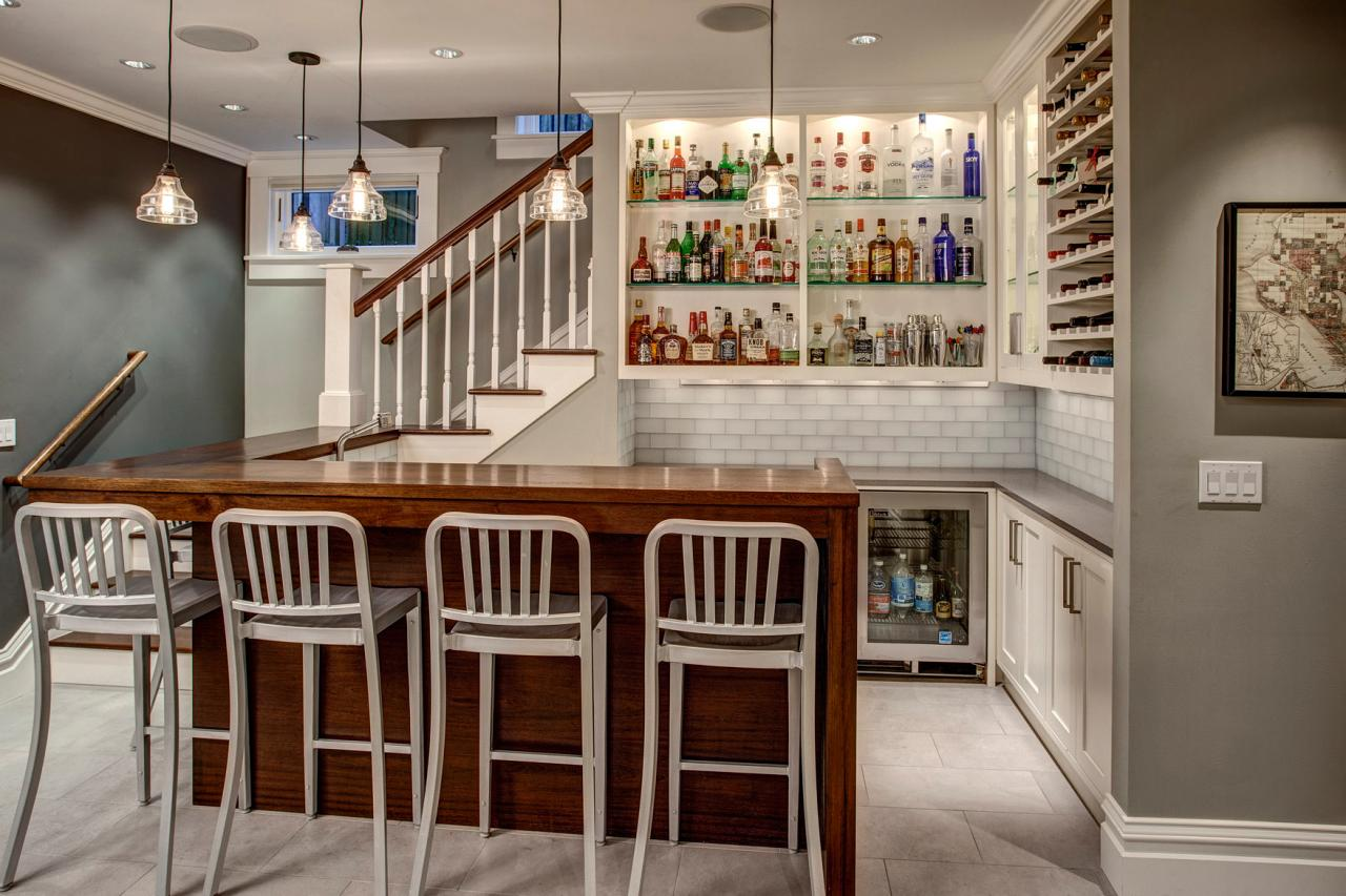 Basement bar ideas and designs pictures options tips for Cost to build a bar in basement