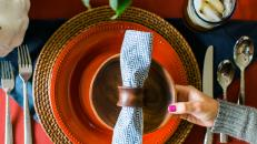 Modern Americana Fall Table Setting
