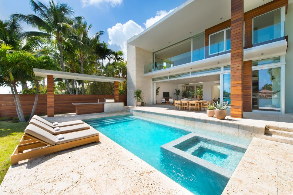 Pool and White Patio