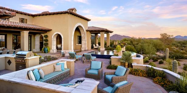Southwestern Home Exterior, Patio, Pool