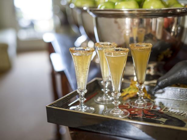 apple champagne cocktail