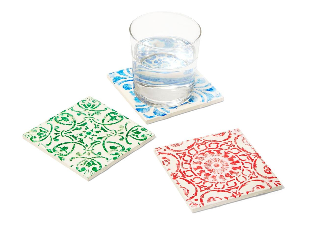 Turn Tiles Into Drinking Coasters Using Sharpies HGTV - Create coasters from photos