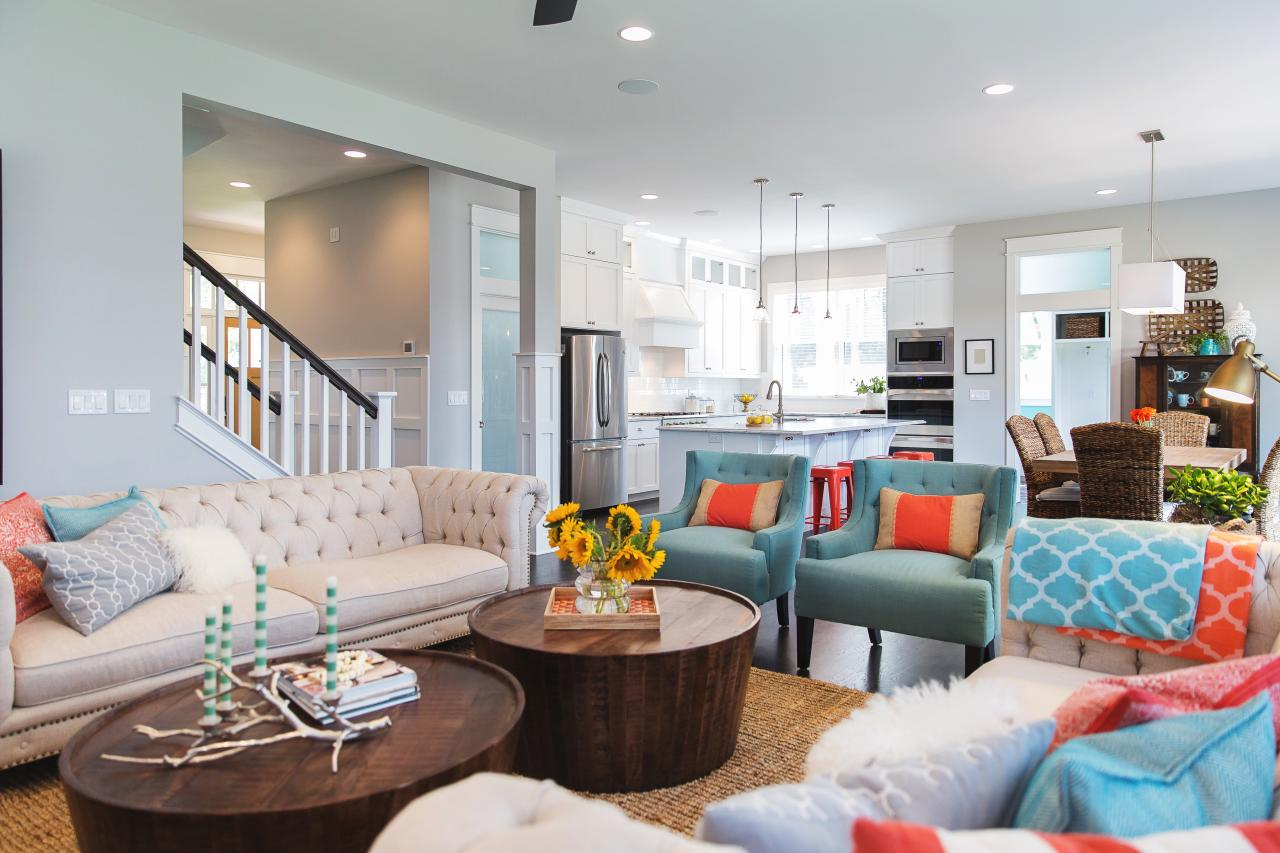 turquoise pictures for living room coral and turquoise color palette inspiration hgtv s 21077