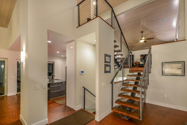 Split Level Foyer With Stairs