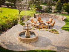 A Serene Stone Patio Made For Entertaining