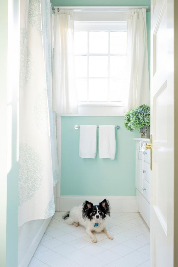 10 Perfect Hues For Tiny Bathrooms That Aren T White Hgtv S Decorating Amp Design Blog