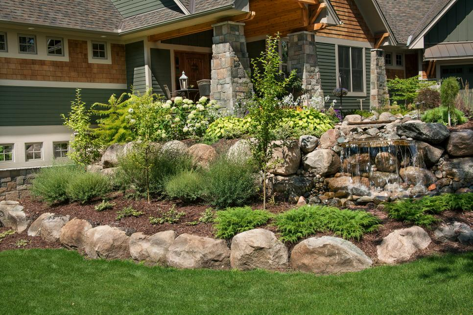 front yard landscaping front yard rock garden with waterfall and bridge 10037