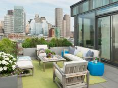 Modern Rooftop Terrace in the City